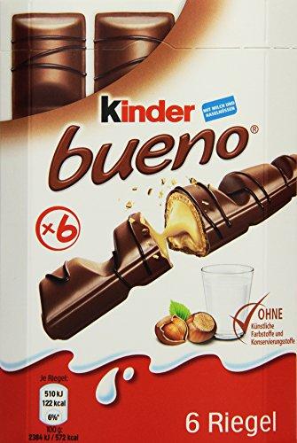 Preisvergleich Produktbild Kinder Bueno,  6 Stück,  129 g