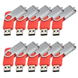FamilyMall(TM)10x USB Stick 2.0 Speicherstick Memory Speed Flash Drive 8GB Hellrot
