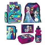 Disney Frozen EISKÖNIGIN 6 TLG blau Set Schulranzen RANZEN Federmappe + Sticker von Kids4shop