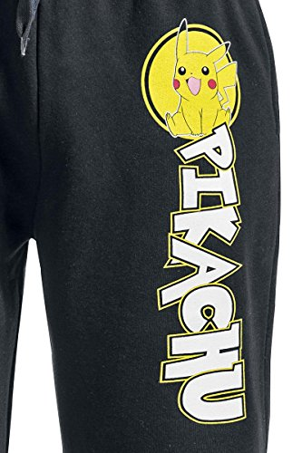 Pokemon-Pikachu-Pantalones-de-gimnasia-Negro