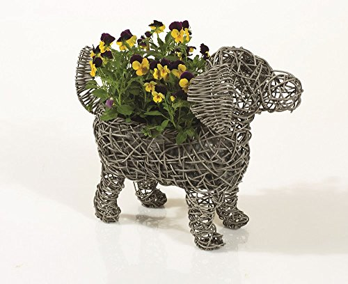 weatherproof-rattan-standing-puppy-dog-planter-quirky-choose-from-grey-or-brown