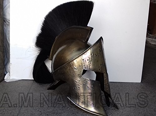 King Leonidas Spartan Helm Warrior Kostüm Mittelalter Helm rutschsicher Geschenk ()
