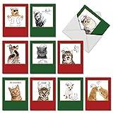 Medigy 3D POP UP Grußkarte Handgemacht Blume Korbp Retro-Zug Blanko-Karten Segen Papier Klappkarten Business Geschenkkarte Glückwunschkarten