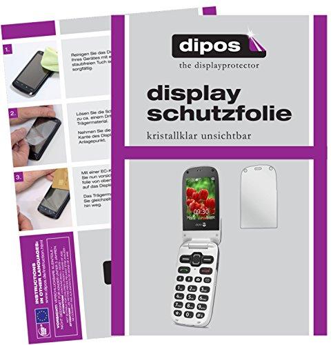 dipos I 2X Schutzfolie klar passend für Doro Secure 628 Folie Bildschirmschutzfolie