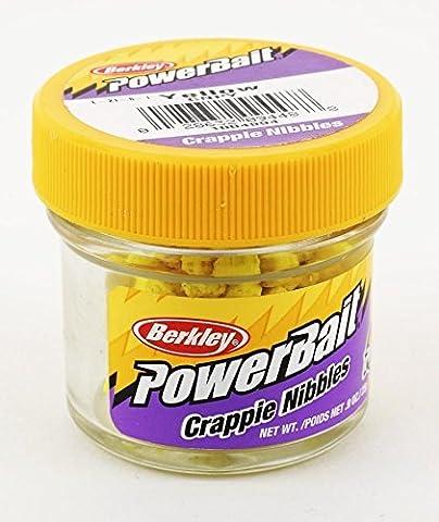 Berkley Yellow Power Bait Crappie Nibbles Jar - Fishing Bait/High Quality