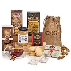 Idea Regalo - Hay Hampers, Il tè delle 5 - Cesta Regalo con Dolci e Marmellata Tradizionale Inglese