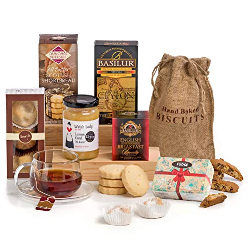 Tea Time Delights - Tea & Biscuits Hamper Box Gift - FREE UK Delivery