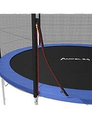 AMPEL 24, Filet de sécurité pour trampoline à 360 - 366 cm de diamètre et 6 piquets | piquets non inclus |
