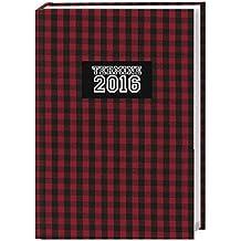 Karo 17-Monats-Kalenderbuch A6 2016: 17 Monate. Von August 2015 bis Dezember 2016.