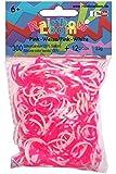 Rainbow Loom 20273 - Original Silikonbänder, 300 Bänder mit 12 C - Clips, pink/weiß