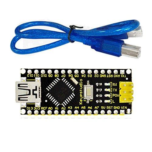 keyestudio Nano ch340 ATMEGA328 Micro Controlador Junta de Desarrollo Nano 3.0 para Arduino