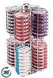 Tassimo Kapselhalter, hält 64 Pads auf rotierendem Sockel, hält alle Tassimo T-Discs auf ALLEN EBENEN, kostenloser eingebauter Mixbecher, unschlagbare Qualität garantiert, Babavoom T14