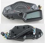 Goldenapplestore - LCD digitale Tachometer Geschwindigkeitsmesser Kilometerzähler 1-5 Ganganzeige Licht EFI Ingenieur Motorrad Roller