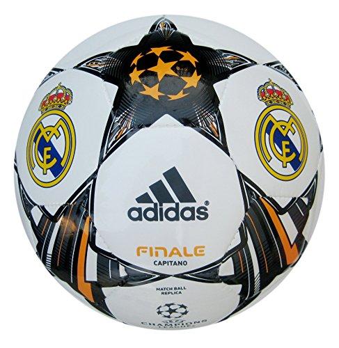 adidas Finale 13Real Madrid C.F. Fußball, Weiß/Schwarz/Gold, Größe 5 -