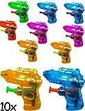 HomeTools.eu® - 10x Mini Wasser-Pistole | Spritz-Pistole Wasser-Pistole | der Badespass | bunt, 10er Set