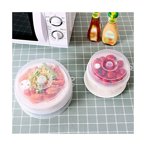 RoadRoma Cubierta de Placa de microondas con ventilaciones de Vapor Cubierta de Plato Cubierta de Salpicadura de… 4