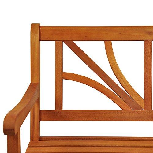 """Indoba Gartenbank, 2-Sitzer """"Lotus"""" – Serie Lotus, braun, 120 x 61 x 88 cm, IND-70103-GB2 - 6"""