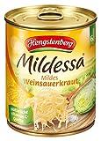Produkt-Bild: Mildessa Hengstenberg mildes Weinsauerkraut 6 Portionen, 12er Pack (12 x 810 g Dose)