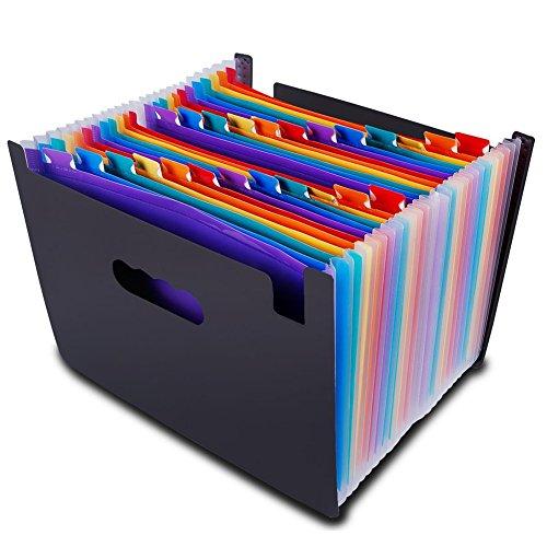 24Pocket Fächermappe Organizer-Multicolor erweiterbar Akkordeon Stil Einreichung Ordner-von egros Home & Office 24 pocket multi