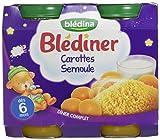 Blédina Blédîner 12 petits pots Carotte Semoule dès 6 mois (Pack de 6x2)