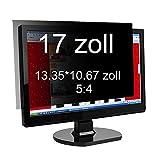 Xianan 17 zoll Standardbildschirm 5:4 Displayfilter Bildschirmfilter Blickschutzfilter Blickschutzfolie Blickschutz