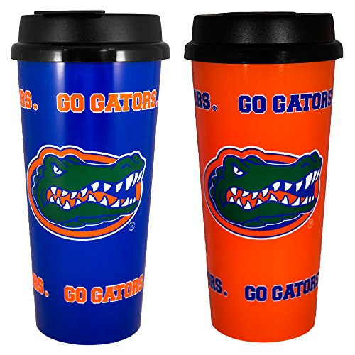 Whirley Drink Works Gameday Novelty NCAA Florida Gators Insulated Travel Tumbler with No Spill Flip Lid, 16 oz, 2 Piece by Whirley Drink Works -