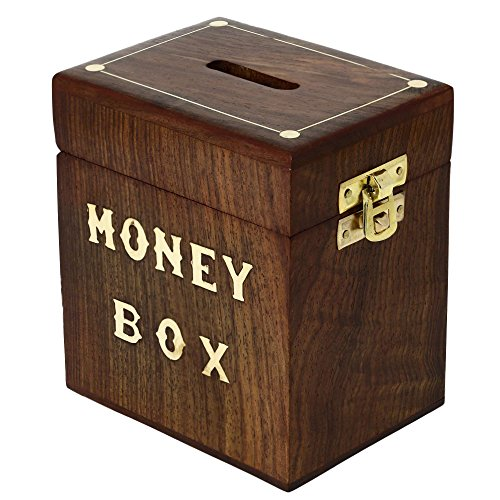 realizzato artigianalmente in legno soldi scatola sicuro salvadanaio per ragazze ragazzi adulti 3x4x4.25di (Realizzato Gufo)