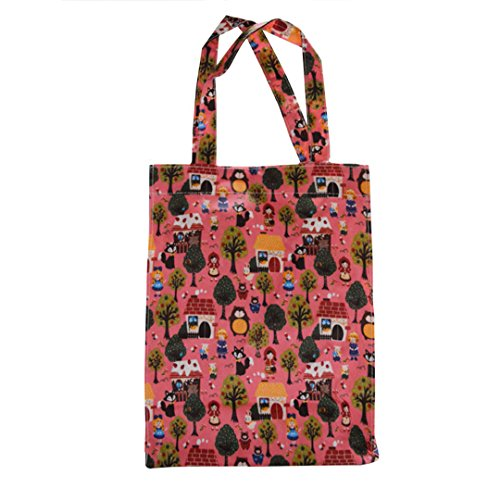 Shopping Bag Aisi In Tessuto Impermeabile Per Donna, Con Motivo 003 Rosa