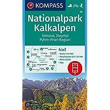 Nationalpark Kalkalpen, Ennstal, Steyrtal, Pyhrn-Priel-Region: 4in1 Wanderkarte 1:50000 mit Aktiv Guide und Detailkarten inklusive Karte zur offline Skitouren. (KOMPASS-Wanderkarten, Band 70)