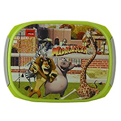 Jaypee Plus Story Box Jr. Plastic Lunch Box Set, 4-Pieces, Green