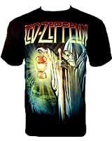 Led Zeppelin T-Shirt Stairway To Heaven Fanshirt Schwarz Black