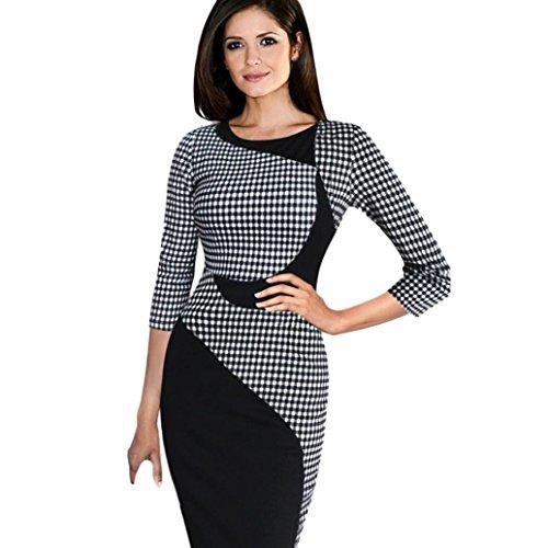 Fashion Fall Winter Herbst Kleid Frauen Casual bequem lange Ärmel Damen Stricken Büro Bodycon Slim Mini Kleider hergestellt von moginp, S, schwarz, 1 (Zurück-jersey-kleid)