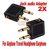 Best Headphones For Airplanes - 2 pcs Airline Airplane Earphone Headphone Headset Jack Review