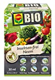 COMPO Bio Insekten-frei Neem, Insektizid mit breitem Wirkungsspektrum, u.a. gegen Blattläuse, Weiße Fliegen, Buchsbaumzünsler und Trauermücken, 30 ml