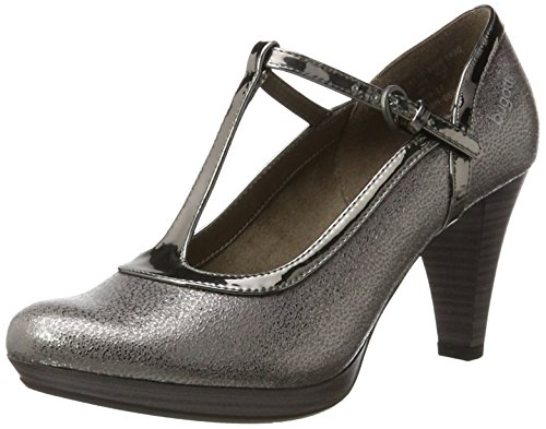 bugatti Damen 412281725050 Pumps, Braun (Taupe/Metallic 1490), 40 EU -