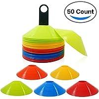 WOD SKAI Conos de Entrenamiento de Fútbol 25 Unidades Conos de Disco de Fútbol Conos Marcadores Conos de disco Entrenamiento de Agilidad (multicolor)