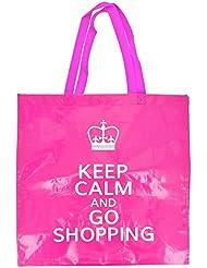 -Cabas Shopping Bag Couses Mode London Queen rosa