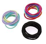 Bande élastique cheveux, corde en nylon, beignet, élastique, couleurs mélangées, 30mm, 3ensemblessérie/sac, vendu par sac
