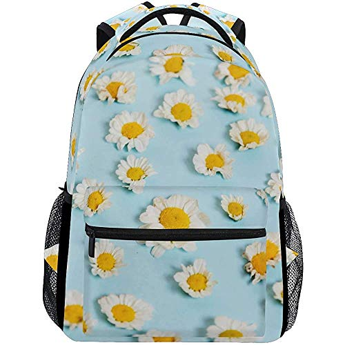 Mochila de Viaje White Daisy Flower School Mochilas Escolares Hombro Laptop Daypack College...