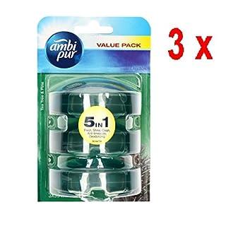 Ambi Pur 3 x 3 flüssige WC-Steine Nachfüller 3 x 55 ml - Theeboom & Den (Tea Tree/Pine)
