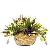 Florclick - Capazo de tulipanes - Flores naturales a domicilio en 24 horas