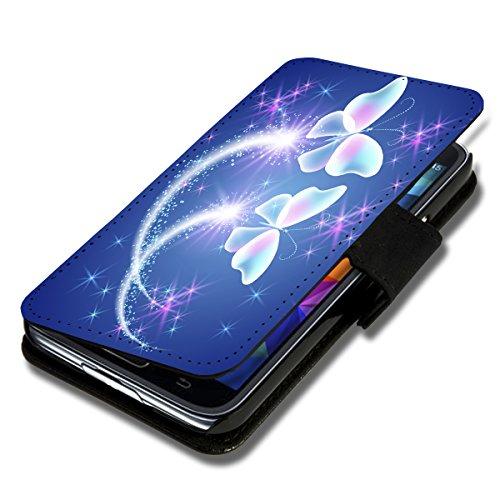 Book Style Flip Handy Tasche Case Schutz Hülle Schale Motiv Etui für Wiko Darkmoon - Flip 1X12 Design12
