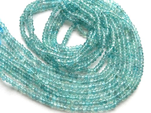 Be You 3-4mm rondelle sfaccettato apatite blu naturale della pietra preziosa perline 13 (Apatite Strand)