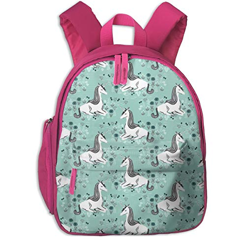 Kinderrucksack mädchen,Unicorn Pastel Mint Cute Gendre Neutral Kids_4286 - Andrea_Lauren, Für Kinderschulen Oxfordstoff (pink)