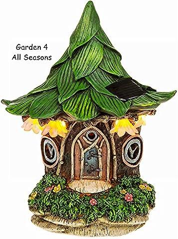 Jardin solaire fée Lumière LED lumineux–Corps Maison Séjour Pixie–Fantaisie–Mini Ornements–Feuille Cottage