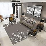 CHAI Wohnzimmer Decor Teppich Bodenfliesen Europäischen Einfachen Stil 3D Färben Braun Rechteck Teppich Kinder Klettern Teppich Schlafzimmer Rutschfeste Teppich Teppich Teppiche (Größe : 160x230cm)