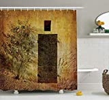 AORSTAR rideau de douche d¨¦cor Cat Lover Waterproof Shower Curtain Set, Dog And Kitty In The Bathtub Together With Bubbles Shampooing Having Shower Fun Artsy Print, Bathroom Accessories, 60 x 72 Inch