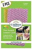 The Crown Choice Antigraffio Heavy Duty paglietta o pentola Scrubber Pad (2 pezzi) Lavaggio della cucina, lavastoviglie, pulizia Nylon Mesh Strofinare Scrubbies Scrub rilievi del panno Outlast spugne