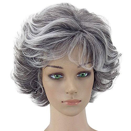 Coomir 30 cm Frauen Curly Wellenförmige Kurze Perücke Natürliche Synthetische Haar Maskerade Party Girl Cosplay Volle Perücken -