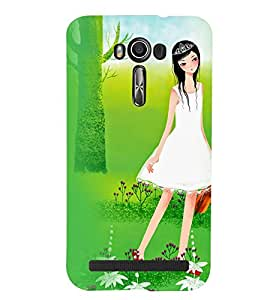 Printvisa Premium Back Cover Girl With A Violen In A Forest Design For Asus Zenfone 2 Laser ZE500KL::Asus Zenfone 2 Laser ZE500KL (5 Inches)